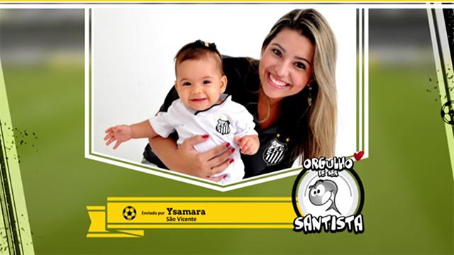 Participante do vídeo Orgulho de Ser Santista (Foto: Reprodução/TV Tribuna)