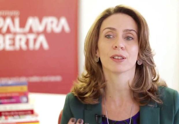 Patricia Blanco, presidente do Instituto Palavra Aberta (Foto: Reprodução/YouTube)