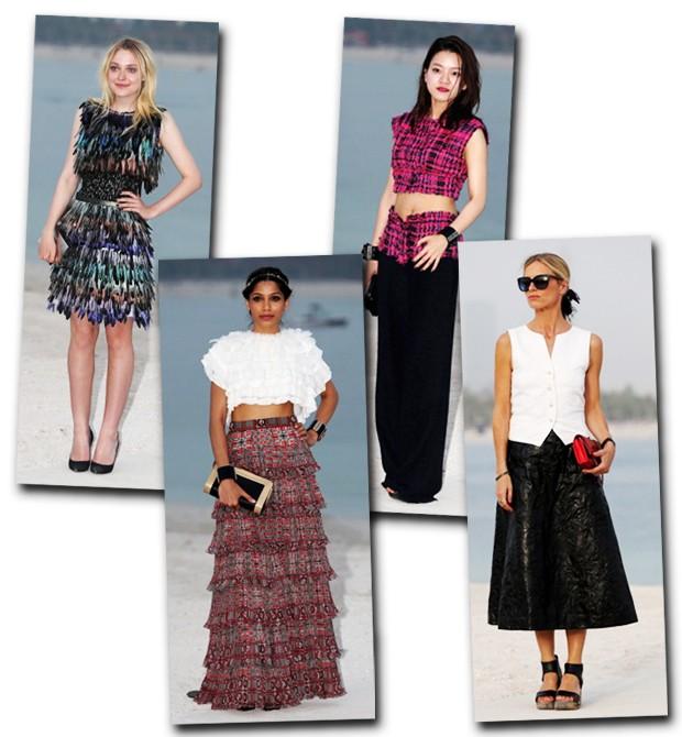 Karl Lagerfeld leva o Resort 2015 da Chanel para o Oriente Médio