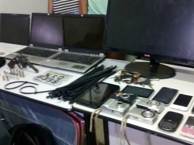 Quadrilha foi presa pela Derf na terça-feira (Foto: Graziela Rezende/G1 MS)