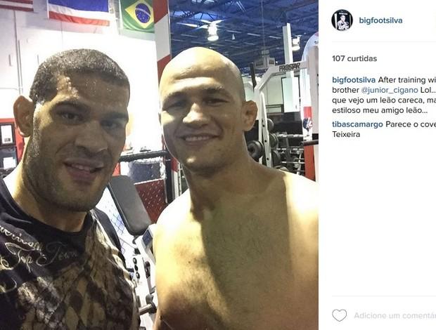 Antônio Pezão e Junior Cigano Instagram