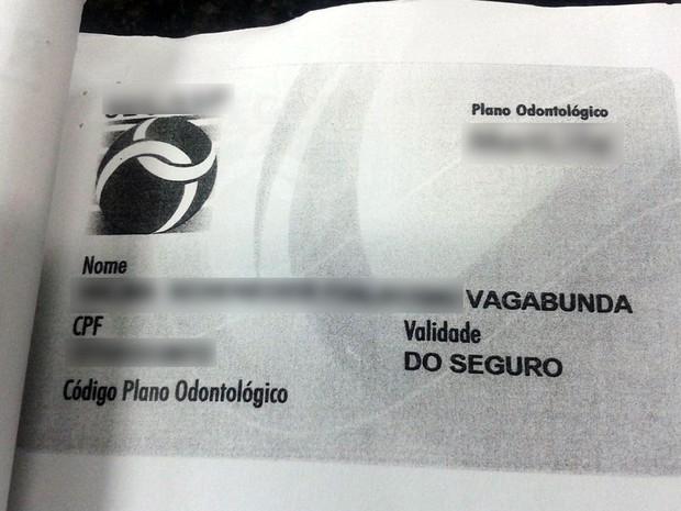 Imagem de cartão está anexada ao processo (Foto: André Souza/ G1)