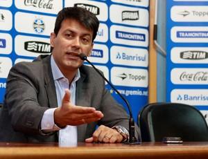 Entrevista coletiva do diretor Rui Costa (Foto: Diego Guichard / GLOBOESPORTE.COM)