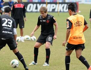Thomás Love treino Flamengo (Foto: Alexandre Vidal / Fla imagem)