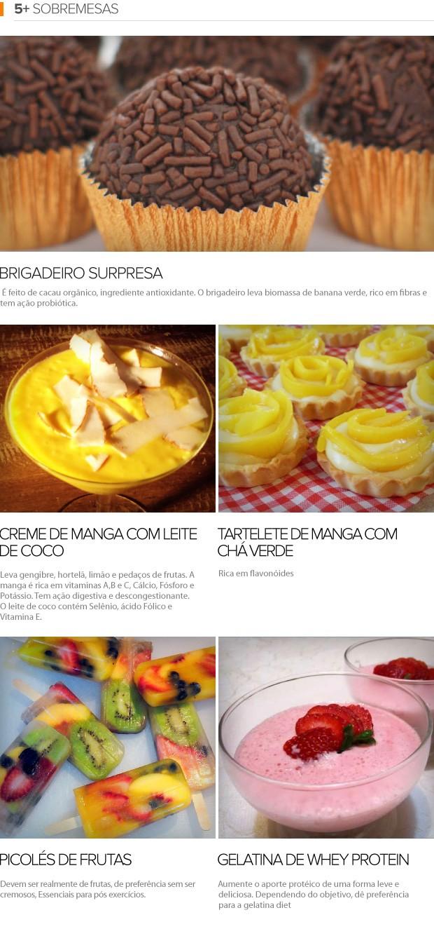 EU ATLETA 5+ sobremesas (Foto: Editoria de arte)