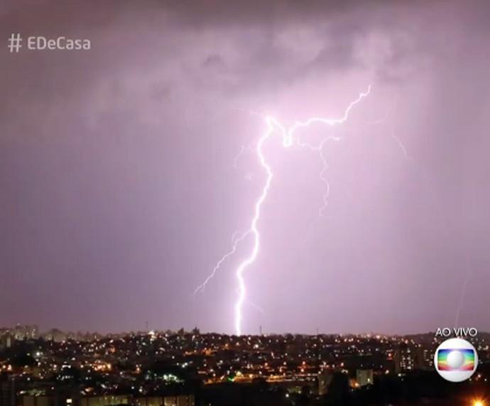 Brasil é campeão mundial de raios (Foto: TV Globo)