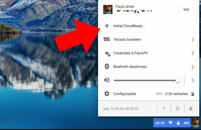 Inicie a instalação do Chrome OS (Foto: Reprodução/Paulo Alves)