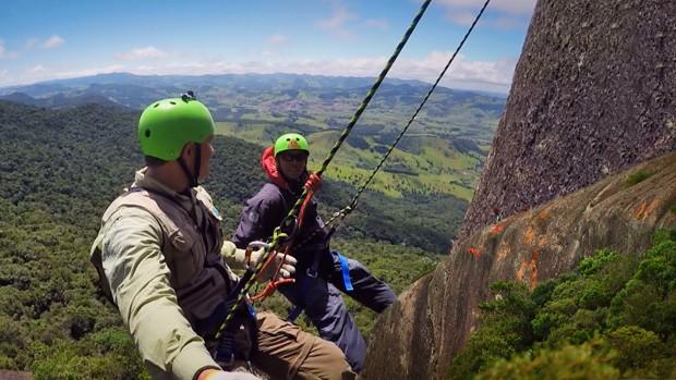Aventura em Extrema desafia coragem de repórter (Márcio de Campos/TG)