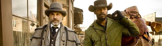 Christoph Waltz e Jamie Foxx em 'Django livre' (Foto: Divulgação)