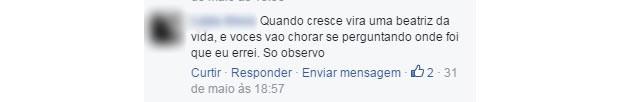 comentario machista 10 (Foto: Reprodução/ Facebook)