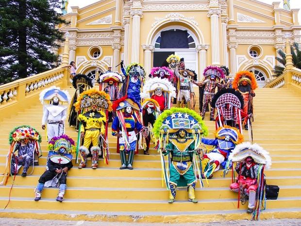 Caretas do Carnaval de Triunfo (Foto: Verner Brenan/ Ascom Triunfo)