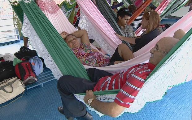 Dormir em redes é tradição amazônica (Foto: Amazonas TV)