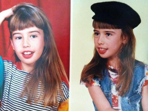 Fernanda Keulla quando pequena (Foto: Reprodução / Twitter)