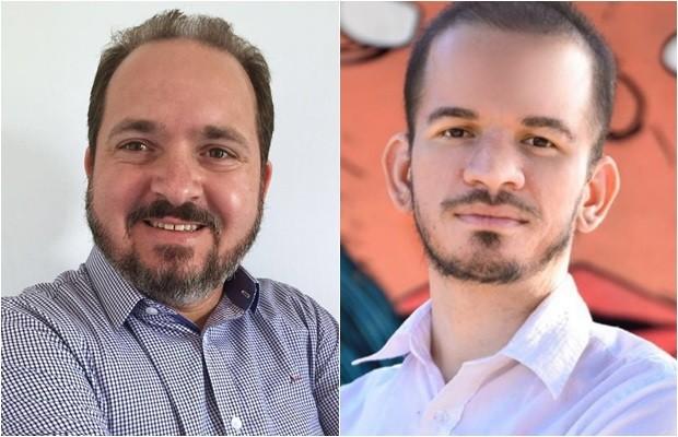Flávio Sofiati (PSOL) e seu vice, João Pucinelli (PSOL) (Foto: Montagem/G1)