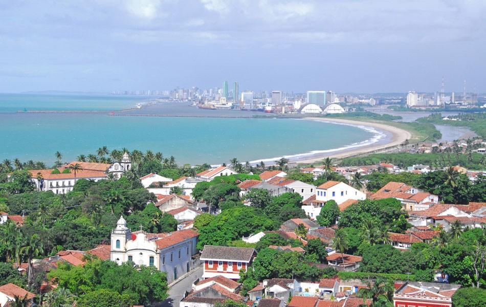 Vista de Olinda para o Recife (Foto: Passarinho / Prefeitura de Olinda)