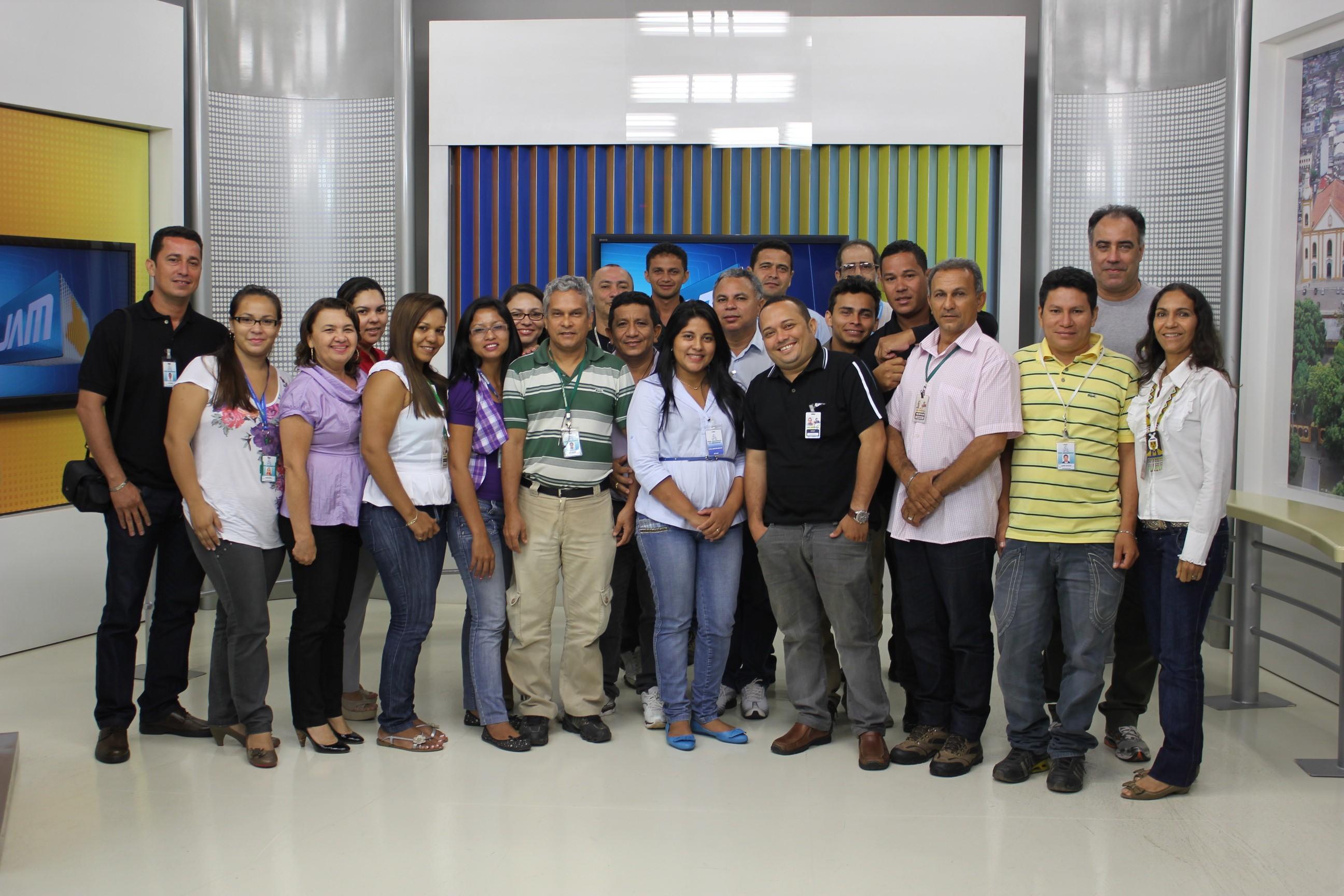 Correspondentes da TV Amazonas no interior participaram da reunião (Foto: Muniz Neto/ G1 AM)