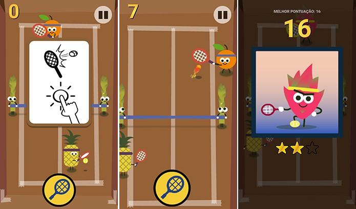 Tênis do Doodle exige agilidade do usuário para rebater jogada do rival (Foto: Reprodução/Elson de Souza)