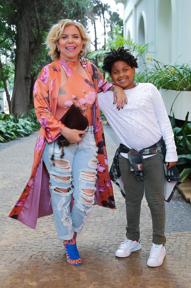 Astrid Fontenelle com o filho (Foto: Manuela Scarpa/ Brazil News)