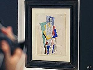 Quadro de Picasso 'Homem com Chapéu de Ópera' (Foto: AP)