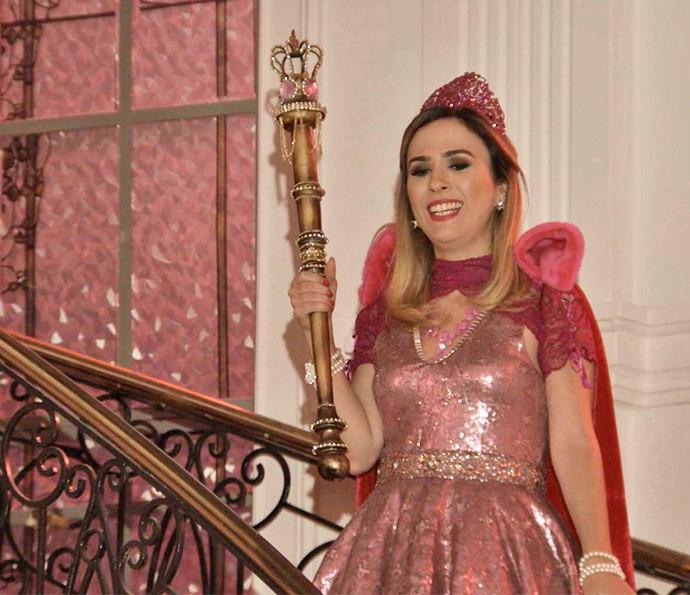 Fedora rainha! Agora é real :) (Foto: TV Globo)