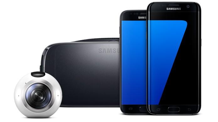 Gear 360 com compatibilidade com celulares da linha Galaxy e Gear VR (Foto: Divulgação/Samsung)