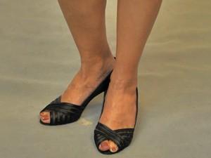 Veja o sapato de Fátima Bernardes (Foto: Encontro com Fátima/TV Globo)