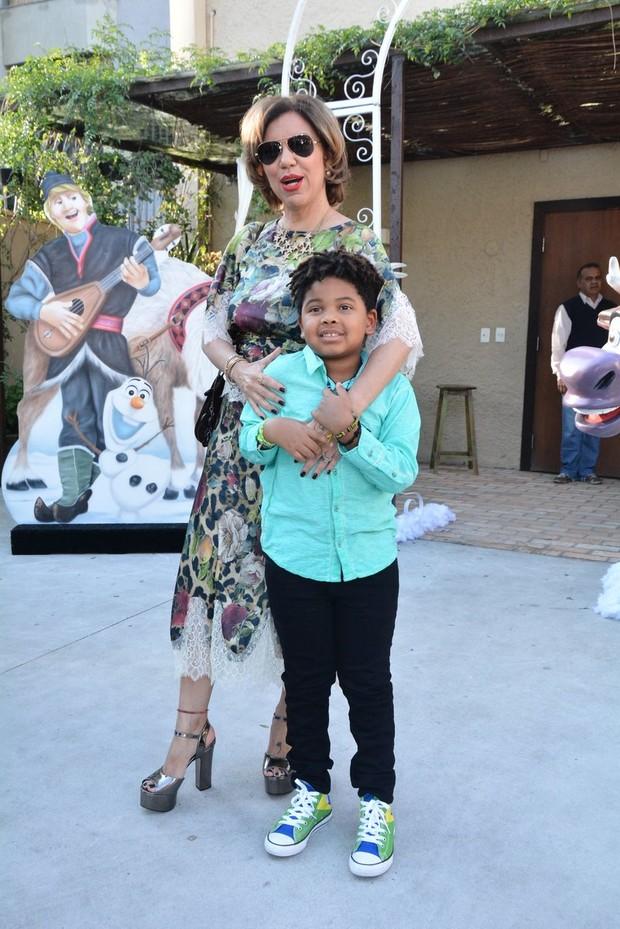 Astrid Fontenelle com o filho Gabriel (Foto: Caio Duran e Thiago Duran/AgNews)