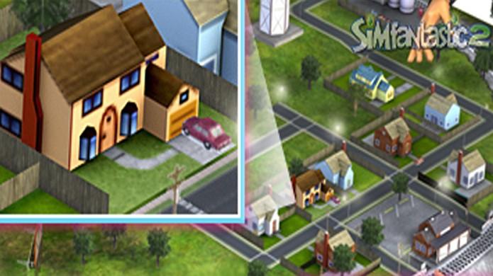 A casa dos Simpsons aparece em uma miniatura de The Sims 2: Tempo Livre, bem escondida (Foto: Reprodução/SimFantastic2)