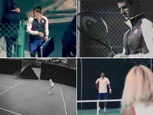 FRAME Djokovic comercial raquete (Foto: Reprodução)