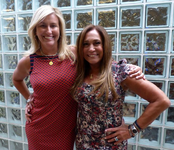 Susana Vieira contou com o apoio da nora Luciana Vieira Cardoso em sua estreia no Vídeo Show (Foto: Cristina Cople / Gshow)