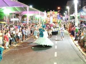 Desfiles de escolas de samba e blocos animam foliões em Serra Negra (Foto: Reprodução EPTV)