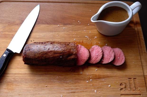 O rosbife pronto (Foto: André Lima de Luca)