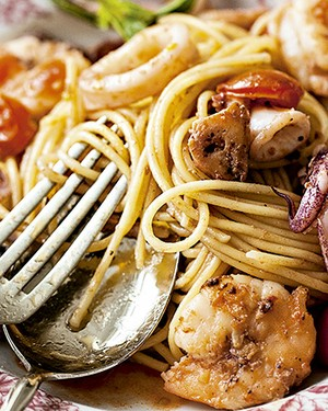 Spaghetti frutti di mare in bianco (Foto: Elisa Correa/Editora Globo)