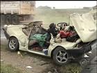 Dois morrem em acidente entre carro com seis pessoas e ônibus