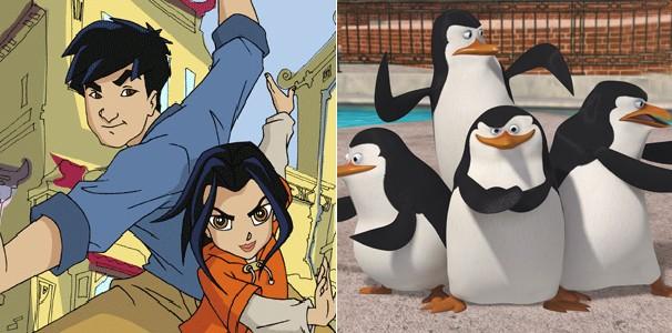 Pra começar, veja 'As Aventuras de Jackie Chan' e 'Os Pinguins de Madagascar' (Foto: Divulgação/Reprodução)