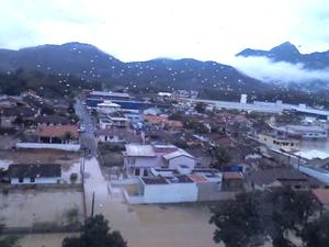Guaramirim foi invadida pelas águas da Bacia do Rio Itapocu (Foto: BOA/Divulgação)