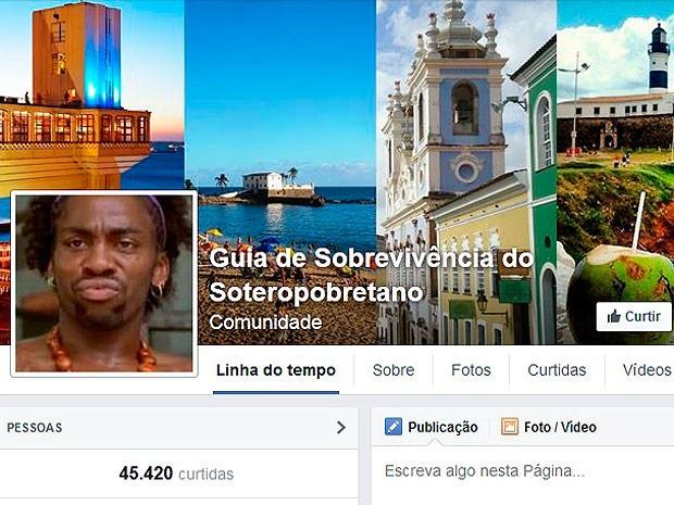 Guia de Sobrevivência do Soteropobretano tem mais de 45 mil seguidores (Foto: Reprodução / Facebook)