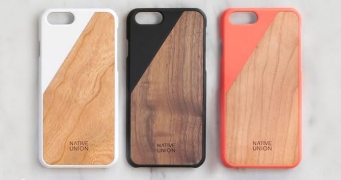 Capinha com madeira e silicone para iPhone 6 (Foto: Divulgação/Native Union)