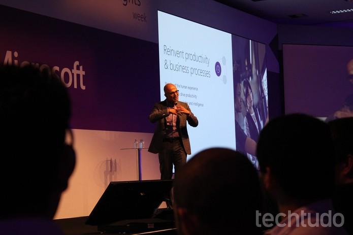 CEO da Microsoft (Foto: Leonardo Avila/TechTudo)
