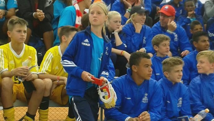 Jogadoras Canadá Copa Danone Torneio Internacional de Nações sub-12 (Foto: Vitor Geron)
