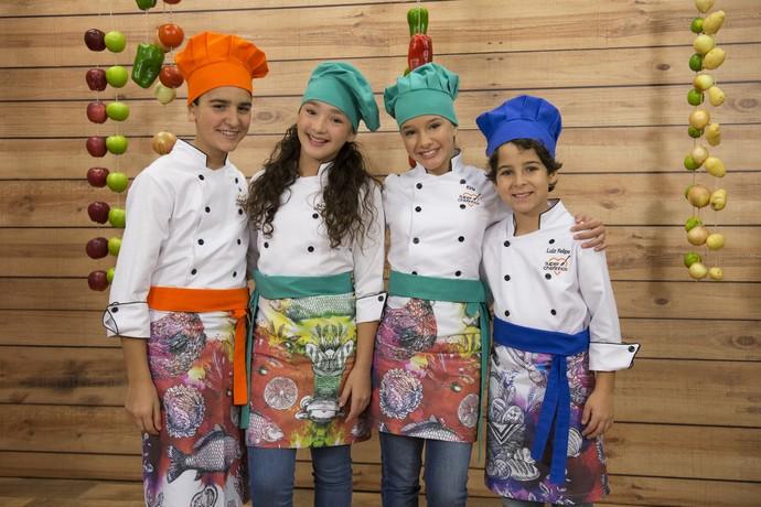 Artistas mirins estão no elenco do Super Chefinhos, no Mais Você (Foto: Globo/Renato Rocha Miranda)