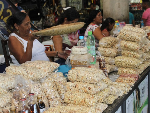 A castanha do caju é um dos sabores encontrados pelo Shopping da Cidade (Foto: Patrícia Andrade/ G1)
