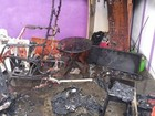 Mulher ateia fogo na própria casa em RR (Reprodução/Facebook/Alcir Arruda)