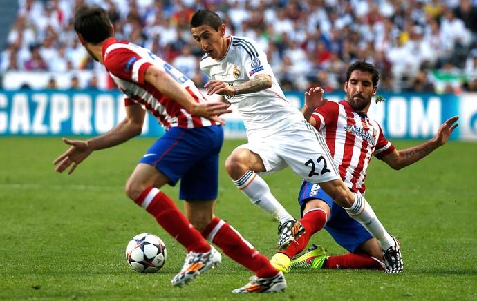 Di Maria e Raul Garcia Real Madrid e Atlético de Madrid (Foto: Agência Reuters)