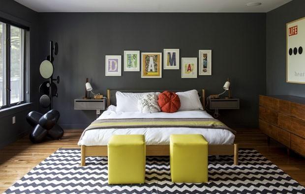 Decoração 12 quartos pretos e elegantes Casa Vogue