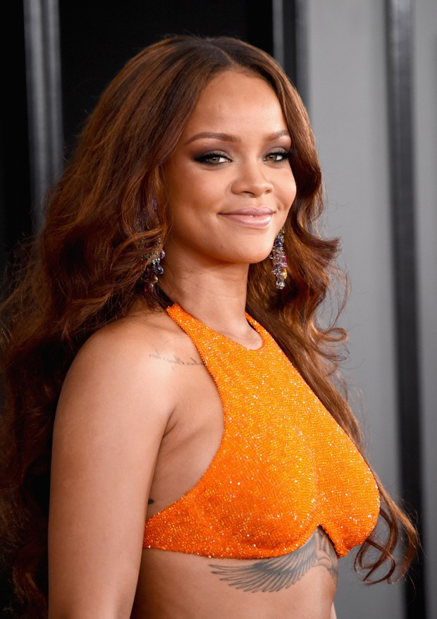 Rihanna no Grammy (Foto: Agência AFP)