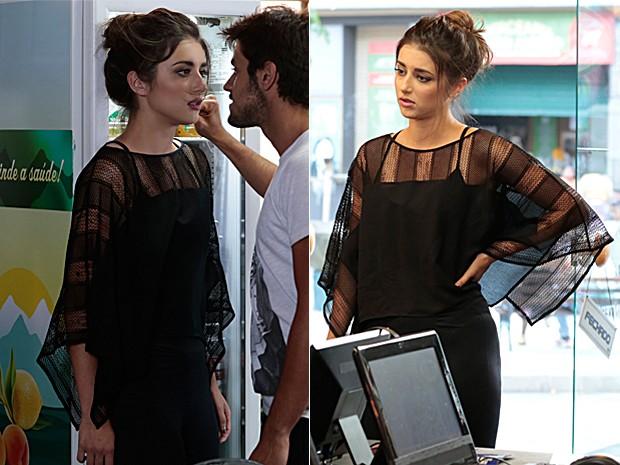 Blusa preta transparente de Jade (Foto: Malhação / TV Globo)
