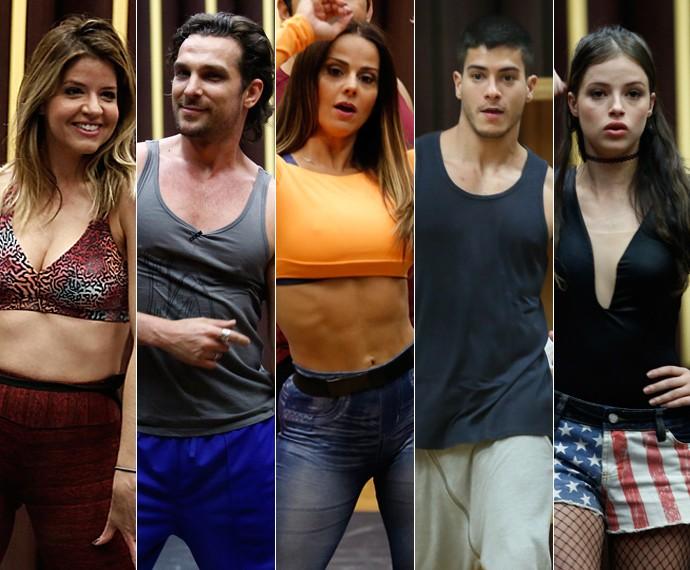 Elenco do Dança comenta mudança do corpo após o quadro; saiba quantos quilos cada um perdeu (Foto: Inácio Moraes/Raphael Dias/Isabella Pinheiro/Gshow)