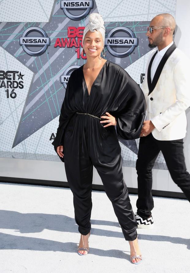 Alicia Keys no BET Awards, em Los Angeles, nos EUA (Foto: AFP)