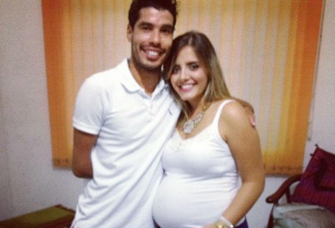 Daniel Dias esposa Raquel grávida (Foto: Reprodução Instagram)